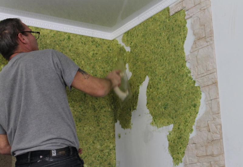 Как убрать со стен жидкие обои