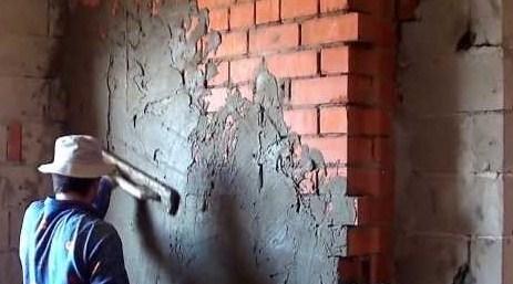 Как правильно штукатурить стену цементным раствором без маяков видео купить болгарку для резки бетона
