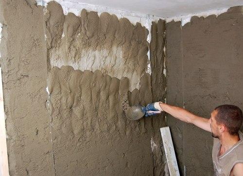 Штукатурка кирпичной стены цементным раствором по маякам вибратор для бетона аренда в москве