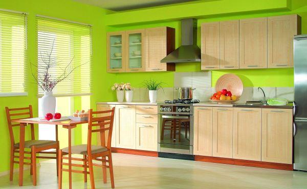 Окрашенные стены кухни актуальны всегда