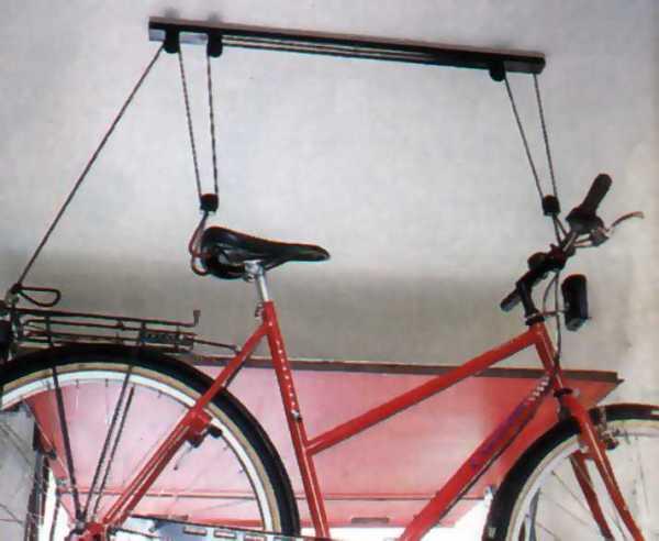 Подвешивание велосипеда к потолку