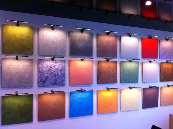 Образцы текстур, созданных с помощью фактурной краски