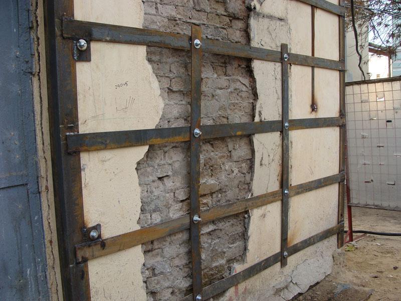 усиление стены из шлакоблоков