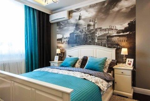 Использование фотообоев в отделке спальни