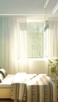Используем светлые тона для не большой спальни