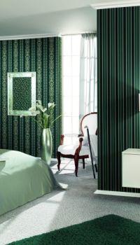 Однотонная стилистика спальни
