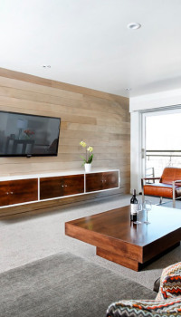 Оформление гостиной панелями