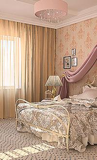 Прозрачная тюль для спальни