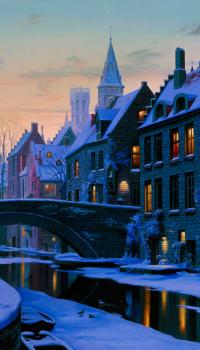 Зимние улицы старого города