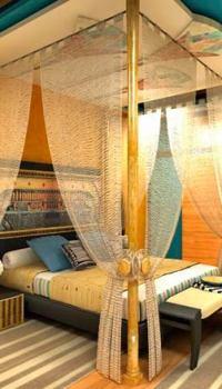 Египетский стиль в спальне.