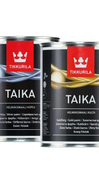 Финская краска TAIKA c серебристым и золотистым отливом
