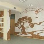 Панно на стену из пробки может изображать настоящие картины