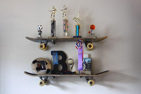 Полки из скейтбордов