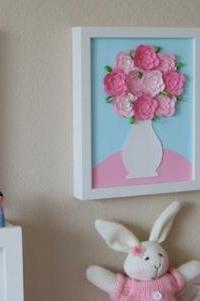 Украшение картинами из цветов