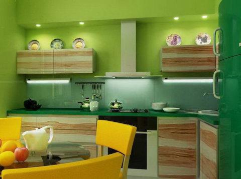 Выбираем зеленый оттенок для кухни