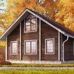 Оригинальный экстерьер бревенчатого дома