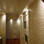 Потолок и стены в коридоре в одной цветовой гамме