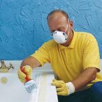 Использование специальной маски, при работе с токсичными красками
