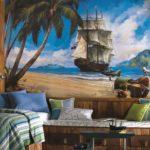 Фотообои с морской тематикой в комнате мальчика