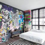 Размер граффити должен соответствовать габаритам комнаты