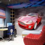 В комнате подростка актуальны фотообои с изображением автомобилей