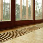 Внутрипольный конвектор Бриз (КЗТО) с декоративной деревянной решеткой